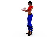 3d woman medicine concept Stock Photos
