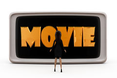3d woman movie concept Royalty Free Stock Photography