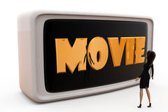 3d woman movie concept Royalty Free Stock Images