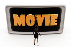 3d woman movie concept Stock Photography