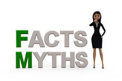 3d woman myths facts concept Royalty Free Stock Images