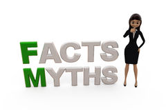 3d woman myths facts concept Royalty Free Stock Photography