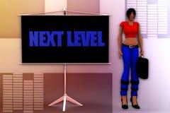 3d woman next level illustration Stock Photos
