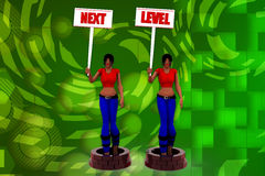 3D woman next level illustration Stock Image