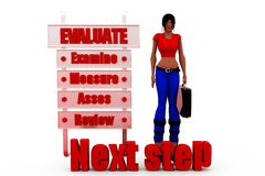 3d woman next step concept Stock Photography