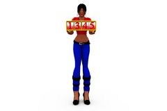 3d woman number concept Stock Photography