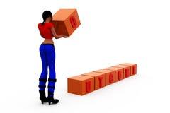 3d woman outcome concept Stock Photos