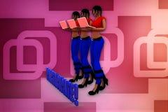 3d woman participate illustration Stock Photo