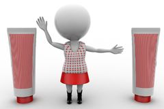 3d woman with pastes Stock Photography