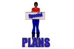3d woman plans concept Royalty Free Stock Images