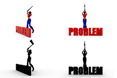 3d woman problem Concept Collections With Alpha And Shadow Channel Stock Photos