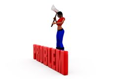 3d woman problem concept Royalty Free Stock Photo