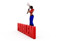 3d woman problem concept Royalty Free Stock Photo