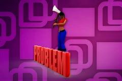 3d woman problem illustration Stock Image