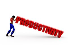 3d woman productivity concept Royalty Free Stock Photos
