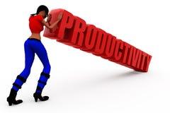 3d woman productivity concept Stock Image