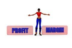 3d woman profit margin concept Stock Photo