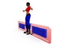 3d woman profit margin concept Royalty Free Stock Photo