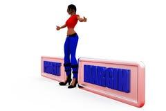 3d woman profit margin concept Stock Images