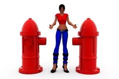 3d woman pump concept Stock Photography