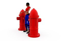 3d woman pump concept Royalty Free Stock Images