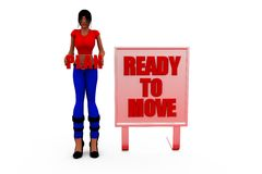 3d woman ready concept Royalty Free Stock Image