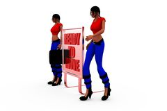 3d woman ready concept Stock Images