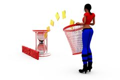 3d woman recycle bin concept Imagen de archivo libre de regalías