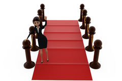 3d woman red carpet concept Royalty Free Stock Photos