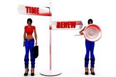 3d woman renew concept Royalty Free Stock Photo