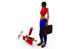 3d woman repair tools concept Royalty Free Stock Image