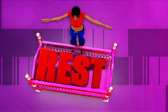 3d woman rest illustration Stock Photos