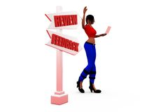 3d woman review concept Stock Photo
