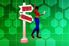 3d woman review  illustraton Royalty Free Stock Photography