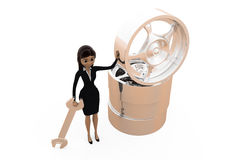 3d woman with rims concept Stock Images
