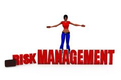 3d woman risk management concept Royalty Free Stock Image