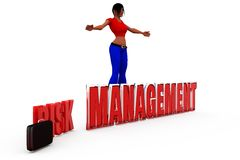 3d woman risk management concept Royalty Free Stock Photo