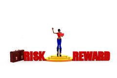3d woman risk reward concept Royalty Free Stock Image