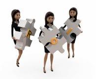 3d woman ROI concept Stock Photo