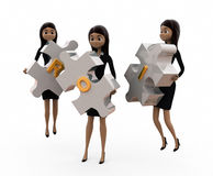 3d woman ROI concept Stock Images