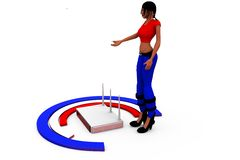 3d woman rounter network concept Stock Photography