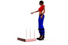 3d woman router concept Stock Images