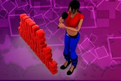 3d woman SAK illustration Stock Images