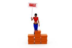 3d woman sale concept Royalty Free Stock Image