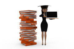 3d woman scholar student concept Royalty Free Stock Photography