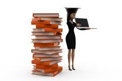 3d woman scholar student concept Stock Image