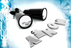 3d woman search money with big binocular illustration Stock Images