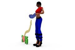 3d woman 2015 secrets concept Royalty Free Stock Photography