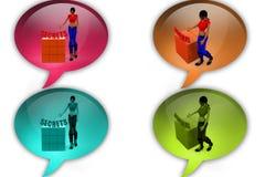 3d woman secrets icon Stock Photos