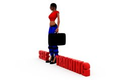 3d woman self trainig concept Royalty Free Stock Photography